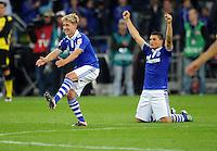 FUSSBALL   1. BUNDESLIGA   SAISON 2011/2012   SUPERCUP FC Schalke 04 - Borussia Dortmund            23.07.2011 Lewis HOLTBY (li) und Kyriakos PAPADOPOULOS (re, beide Schalke) jubeln