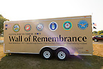 "East Meadow, New York, U.S. 11th September 2013. The Wall of Remembrance trailer is by the Global War on Terror ""Wall of Remembrance"" a traveling memorial on display in New York for the first time, at Eisenhower Park on the 12th Anniversary of the terrorist attacks of September 11th 2001."