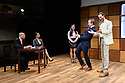 """""""CHINGLISH, by David Henry Hwang, opens at the Park Theatre. Directed by Andrew Keates, with lighting design by Christopher Nairne and set and costume design by Tim McQuillen-Wright. Picture shows: Lobo Chan (Cai Guoliang), Candy Ma (Xi Yan), Siu-see Hung (Qian), Gyuri Sarossy (Daniel), Duncan Harte (Peter Timms)"""
