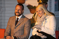 "Crown Prince Haakon, and Crown Princess Mette-Marit of Norway on a three day visit to "" North Troms "", in Northern Norway,  visit Torsvag."