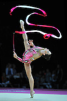 September 22, 2011; Montpellier, France;  NETA RIVKIN of Israel performs with ribbon in event finals at 2011 World Championships.