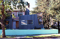 Frank Gehry: Gehry House, Washington Ave. & 22nd St., Santa Monica. 1978. 22nd St. elevation. Photo '86.