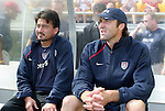 U.S. assistant coach Bret Hall (l) and goalkeeper coach Ian Feuer (r) on Saturday, October 23rd, 2005 at Blackbaud Stadium in Charleston, South Carolina. The United States Women's National Team defeated Mexico 3-0 in an international women's friendly soccer match.
