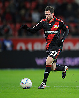FUSSBALL   1. BUNDESLIGA   SAISON 2011/2012    15. SPIELTAG Bayer 04 Leverkusen - 1899 Hoffenheim                  02.12.2011 Gonzalo Castro (Bayer 04 Leverkusen)