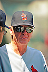 29 August 2010: St. Louis Cardinals pitching coach  Dave Duncan in the dugout prior to a game against the Washington Nationals at Nationals Park in Washington, DC. The Nationals defeated the Cards 4-2 to take the final game of their 4-game series. Mandatory Credit: Ed Wolfstein Photo
