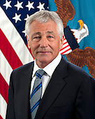 Charles Timothy &quot;Chuck&quot; Hagel became the 24th United States Secretary of Defense on February 27, 2013.  He is the first enlisted combat veteran to lead the Department of Defense.  Secretary Hagel was elected to the United States Senate in 1996 and represented Nebraska until 2009.  As a member of the Senate, he was a senior member of the U.S. Senate Committee on Foreign Relations;  the U.S. Senate Committee on Banking, Housing and Urban Affairs; and the U.S. Senate Committee on Intelligence.  <br /> Credit: Department of Defense via CNP