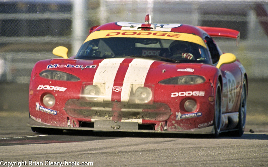 The #93 Dodge Viper GTS-R of David Donohue, Ni Amorim, Jean-Phillipe Beloe and Tommy Archer races to a 3rd place finish in the Rolex 24 at Daytona, Daytona International Speedway, Daytona Beach, FL, February 2000.  (Photo by Brian Cleary/www.bcpix.com)