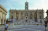 Italy: Rome--Senatorio Palace, Campidoglio, elevation. Photo '82.