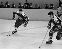 Seals #20Ernie Hicke, and #11 Don O'Donoghue scating (1970 photo/Ron Riesterer)