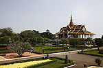 The Moonlight Pavilion in the Royal Palace complex in Phnom Penh, Cambodia has traditionally served as a venue for the king to address public crowds and a stage for performances of the Royal Ballet. It was built in 1914 to replace an older wooden structure. Feb. 29, 2012.