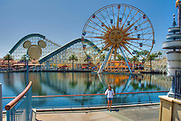 "Former Sun Wheel now ""Fun Wheel"" California Adventure, Anaheim, CA, Vertical, Disney's California Adventure, Disneyland, Anaheim, California, usa"