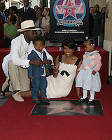 Courtney B. Vance, Angela Bassett, and their children Josiah and Bronwyn.Angela Bassett Receives a Star on the Hollywood Walk of Fame.Hollywood Boulevard.Los Angeles, CA.March 20, 2008.©2008 Kathy Hutchins / Hutchins Photo