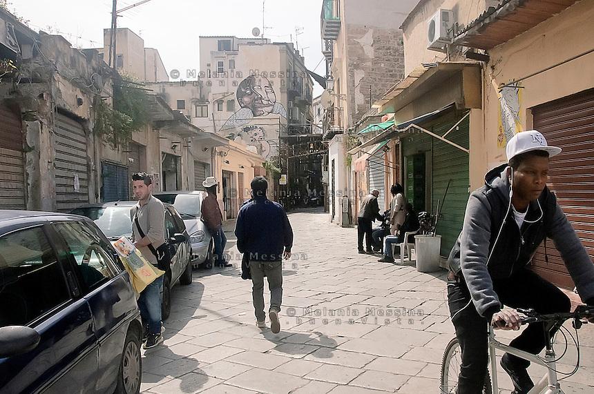 Quartiere Albergheria -Ballar&ograve;.<br /> Albergheria-Ballar&ograve; district