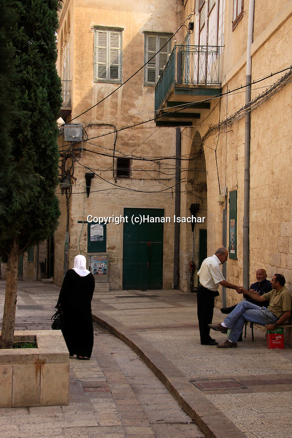 Israel, Lower Galilee, a street in Nazareth
