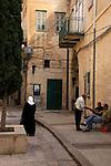 Israel, Lower Galilee, a street in Nazareth