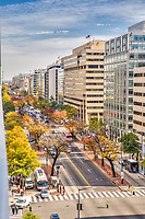 Downtown K and L streets Washington DC