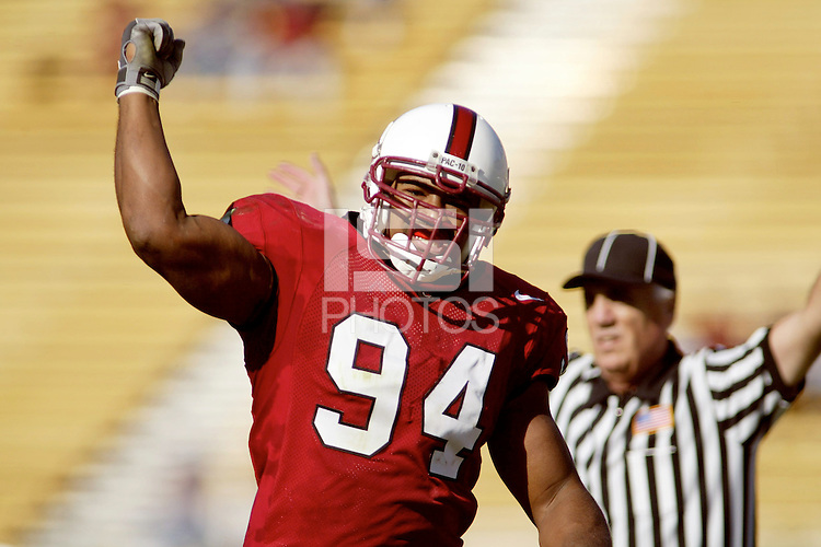 1 November 2003: Action during Stanford's game vs. UCLA at Stanford Stadium in Stanford, CA.