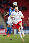 St Johnstone v Ross County...15.03.14    SPFL<br /> Melvin De Leeuw and James Dunne<br /> Picture by Graeme Hart.<br /> Copyright Perthshire Picture Agency<br /> Tel: 01738 623350  Mobile: 07990 594431