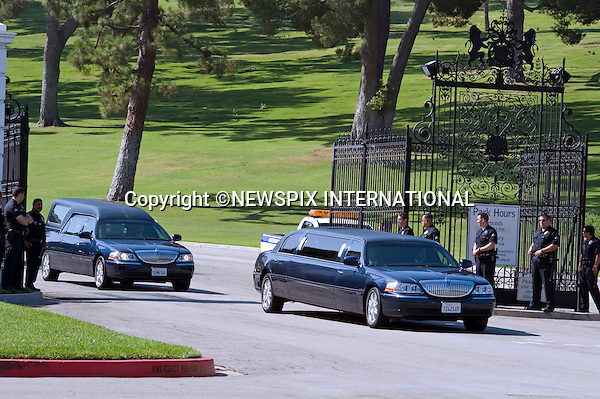 "MICHAEL JACKSON_Funeral.family and friends arrive at Forest Lawns Cemetery, Los Angeles_07/07/2009.Mandatory Photo Credit: ©Newspix International..**ALL FEES PAYABLE TO: ""NEWSPIX INTERNATIONAL""**..PHOTO CREDIT MANDATORY!!: NEWSPIX INTERNATIONAL(Failure to credit will incur a surcharge of 100% of reproduction fees)..IMMEDIATE CONFIRMATION OF USAGE REQUIRED:.Newspix International, 31 Chinnery Hill, Bishop's Stortford, ENGLAND CM23 3PS.Tel:+441279 324672  ; Fax: +441279656877.Mobile:  0777568 1153.e-mail: info@newspixinternational.co.uk"