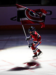 17 October 2009: A young skater in a Montreal Canadiens uniform skates with the team flag prior to a game against the Ottawa Senators at the Bell Centre in Montreal, Quebec, Canada. The Senators defeated the Canadiens 3-1. Mandatory Credit: Ed Wolfstein Photo