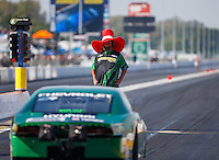 Sep 23, 2016; Madison, IL, USA; Crew members for NHRA pro stock driver Aaron Strong during qualifying for the Midwest Nationals at Gateway Motorsports Park. Mandatory Credit: Mark J. Rebilas-USA TODAY Sports