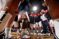 CHARLOTTESVILLE, VA- NOVEMBER 13: The Virginia Cavaliers huddle during the game on November 13, 2011 at the John Paul Jones Arena in Charlottesville, Virginia. Virginia defeated South Carolina State 75-38. (Photo by Andrew Shurtleff/Getty Images) *** Local Caption ***