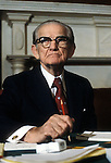 U.S. Senator John Stennis (R-MS) in an undated photo (early 1980s) in Washington, DC.