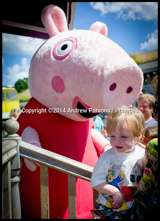 Image ©Licensed to i-Images Picture Agency. 26/06/2014. London, United Kingdom.  Yasmin and Isaac at Peppa Pig World. Picture by Andrew Parsons / i-Images
