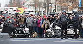 Onlookers await a sighting of President-elect of The United States Donald J. Trump outside Trump International Hotel in Washington, DC, January 19, 2017 the day before his swearing in as 45th President of The United States.<br /> Credit: Chris Kleponis / Pool via CNP
