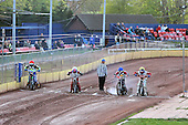 Tapes up for Heat 1 - Hackney Hawks vs Team America - Speedway Challenge Meeting at Rye House - 09/04/11 - MANDATORY CREDIT: Gavin Ellis/TGSPHOTO - Self billing applies where appropriate - Tel: 0845 094 6026