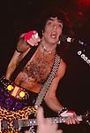 Paul Stanley of Kiss performing live in Poughkeepsie, NY - Nov 1984.