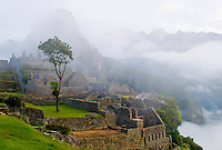 View of the archeological site of Machu Pichu