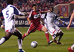 John Thorrington Chicago Fire scores on this shot against the New England Revolution