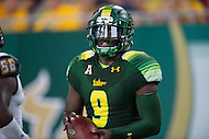 Tampa, FL - September 4th, 2016: South Florida Bulls quarterback Quinton Flowers (9) scores a touchdown late in the fourth quarter against Towson at Raymond James Stadium in Tampa, FL. (Photo by Phil Peters/Media Images International)