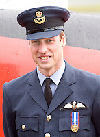 Prince William at RAF Cranwell, Lincolnshire after William received his RAF wings from his father, the Prince of Wales.