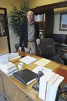 NWA Democrat-Gazette/FLIP PUTTHOFF <br /> Frank Bailey, seen in his office, is the founding partner    Nov. 11, 2015   of Bailey &amp; Oliver Law Firm in Rogers.