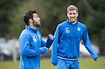 St Johnstone Training&hellip;14.04.17<br />Davd Wotherspoon watches Richie Foster during training at McDiarmid Park this morning ahead of tomorrow&rsquo;s game against Aberdeen.<br />Picture by Graeme Hart.<br />Copyright Perthshire Picture Agency<br />Tel: 01738 623350  Mobile: 07990 594431