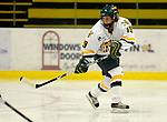25 October 2008: University of Vermont Catamount defenseman Jackie Thode, a Junior from Aurora, CO, in action against the Cornell University Big Red at Gutterson Fieldhouse, in Burlington, Vermont. The Big Red defeated the Catamounts 5-1 to sweep their 2-game series in Vermont...Mandatory Photo Credit: Ed Wolfstein Photo