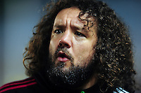 Adam Jones of Harlequins looks on during the pre-match warm-up. Aviva Premiership match, between Harlequins and Bath Rugby on March 11, 2016 at the Twickenham Stoop in London, England. Photo by: Patrick Khachfe / Onside Images