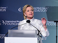 Washington, DC - September 17, 2016: Democratic presidential candidate Hillary Clinton speaks at the Phoenix Awards Dinner hosted by the Congressional Black Caucus Foundation at the Washington Convention Center, in the District of Columbia, September 17, 2016.  (Photo by Don Baxter/Media Images International)