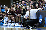 22 March 2015: MSU head coach Vic Schaefer. The Duke University Blue Devils hosted the Mississippi State University Bulldogs at Cameron Indoor Stadium in Durham, North Carolina in a 2014-15 NCAA Division I Women's Basketball Tournament second round game. Duke won the game 64-56.