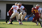 Lafayette High's Jeremy Liggins (1) runs vs. Laurel in the MHSAA Class 4A championship game at Mississippi Veterans Memorial Stadium in Jackson, Miss. on Saturday, December 3, 2011. Lafayette won 39-29, the team's 32 straight win, to capture their second consecutive state championship.