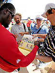25 February 2007: Washington Nationals shortstop Cristian Guzman signs autographs at their spring training facility in Viera, Florida.<br /> <br /> Mandatory Photo Credit: Ed Wolfstein Photo