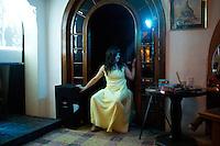 Annuska performing. Mastike Cabaret hosted by Luis Mdahuar at the American Legion, Condesa. Snap shots November/December, Mexico 2012