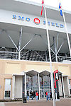 27 April 2007: A view outside the stadium of Gate 4 of the main West Stand.  BMO Field in Toronto, Ontario, Canada on the day before it was scheduled open with the inaugural home match of Major League Soccer expansion team Toronto FC.