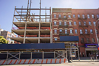 Construction along Frederick Douglass Blvd. in Harlem in New York on Saturday, August 24, 2013. (© Richard B. Levine)