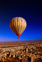 Hot air ballooning over Cappadocia, Goreme, Turkey
