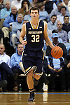 05 January 2015: Notre Dame's Steve Vasturia. The University of North Carolina Tar Heels played the University of Notre Dame Fighting Irish in an NCAA Division I Men's basketball game at the Dean E. Smith Center in Chapel Hill, North Carolina. Notre Dame won the game 71-70.