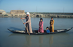 Marsh Arabs. Southern Iraq. Circa 1985. Children and fathers in boats.