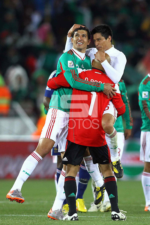 The Mexico players celebrates at the end of the game